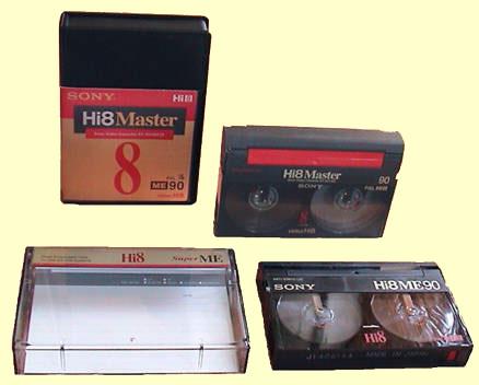 Cassettes Hi8